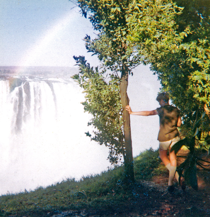 An image of Paul Augustinus looking out at the Victoria Falls from one of the viewpoints